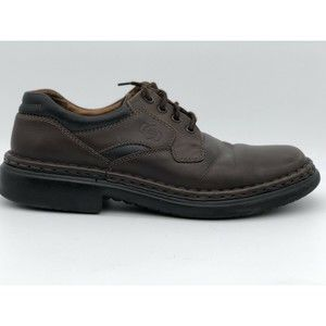 Josef Seibel Brown Leather 4-Eye Plain Toe Casual